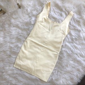 Square-Neck Bodycon Mini ✨💛